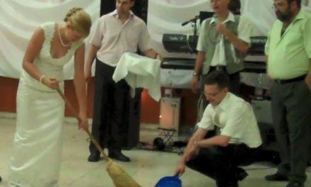 Hungarian Wedding Sweeping Ceremony